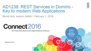 REST Services in Domino Key to modern Web Applications