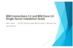 IBM Connections 5.5 and IBM Docs 2.0 Installation Guide